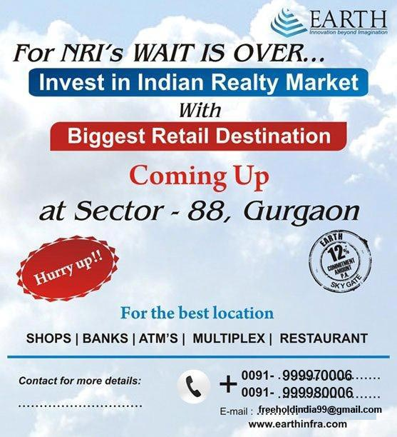 Good opportunity for NRI to invest in Commercial Project at Dwarka Expressway Gurgaon Sector 88